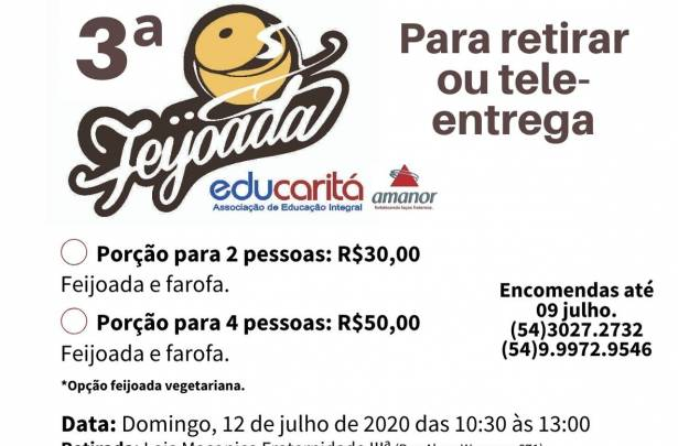 Feijoada Beneficente Educaritá